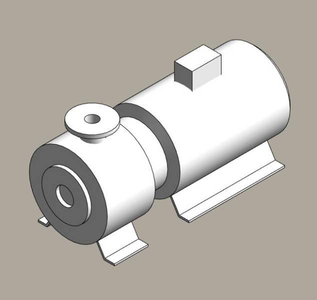 Close coupled end suction pumps