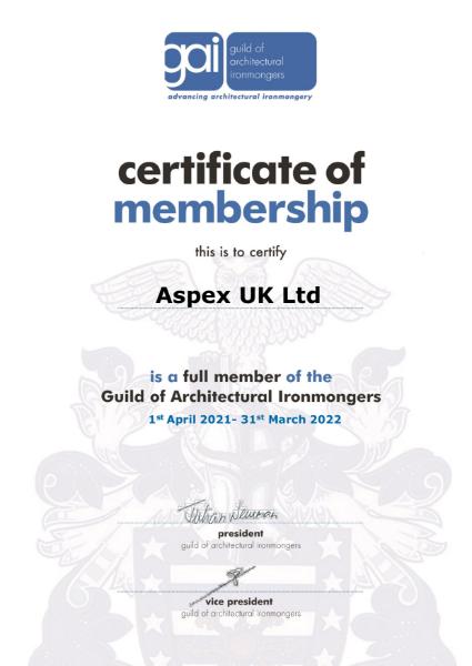 Guild of Architectural Ironmongers - Aspex UK