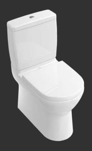 O.novo Washdown WC for Close-coupled WC-suite, Horizontal Outlet 565850