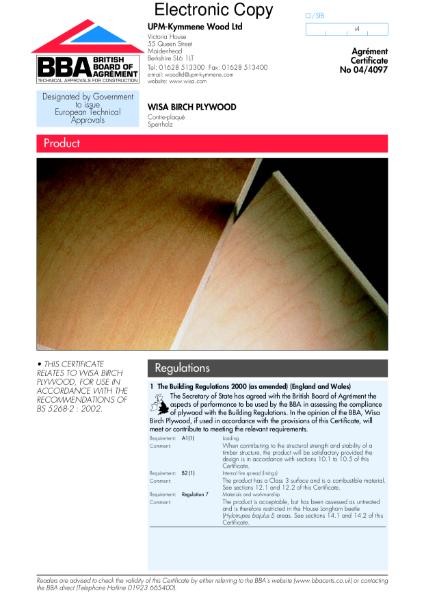 WISA birch plywood