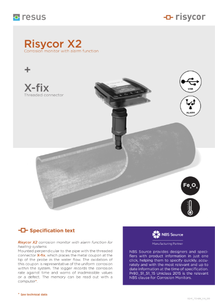 Risycor X2-fix set Technical Datasheet EN V4 00