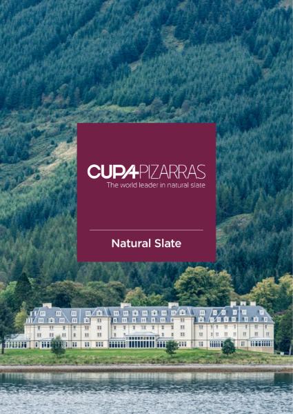 Cupa Pizarras natural slate company General brochure