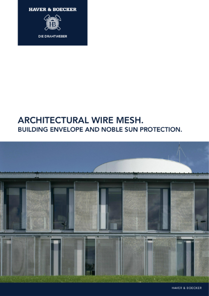 Effective sun protection with architectural wire mesh.