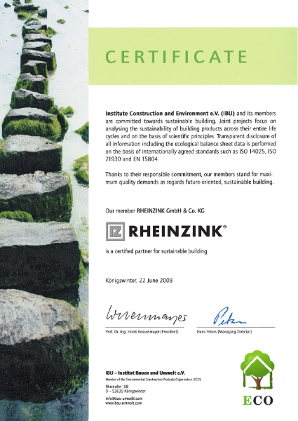 Sustainable Building Certificate