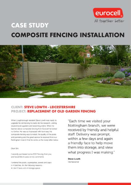 Steve Lowth Composite Fencing Case Study