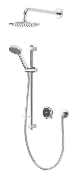 Quartz Touch Smart Divert With Concealed Adjustable And Fixed Wall Heads - HP