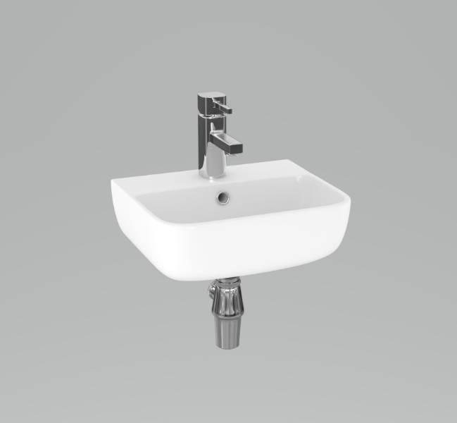 Designer Series 6 35 cm 1TH basin and bottle trap