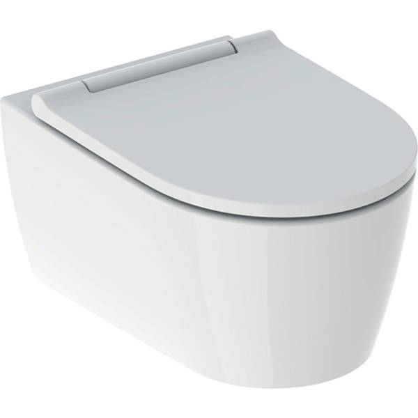 ONE set of wall-hung WC, washdown, shrouded, TurboFlush, with WC seat