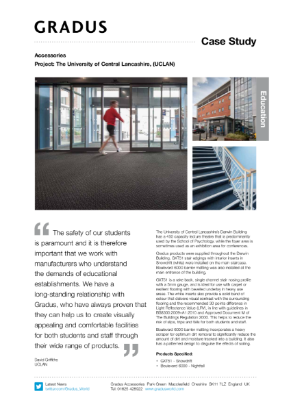 UCLAN Stair Edgings Case Study
