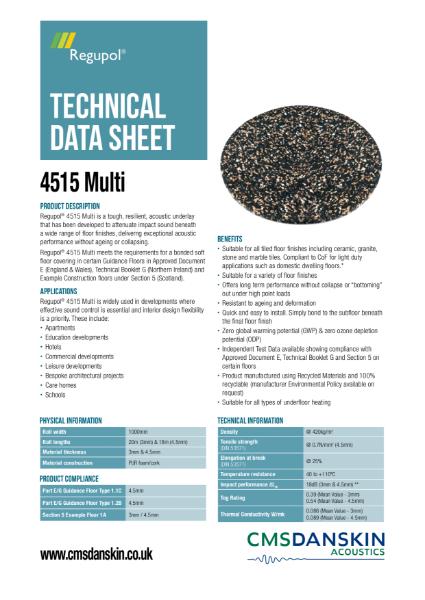 CMS Danskin Acoustics Regupol 4515 Multi - TDS