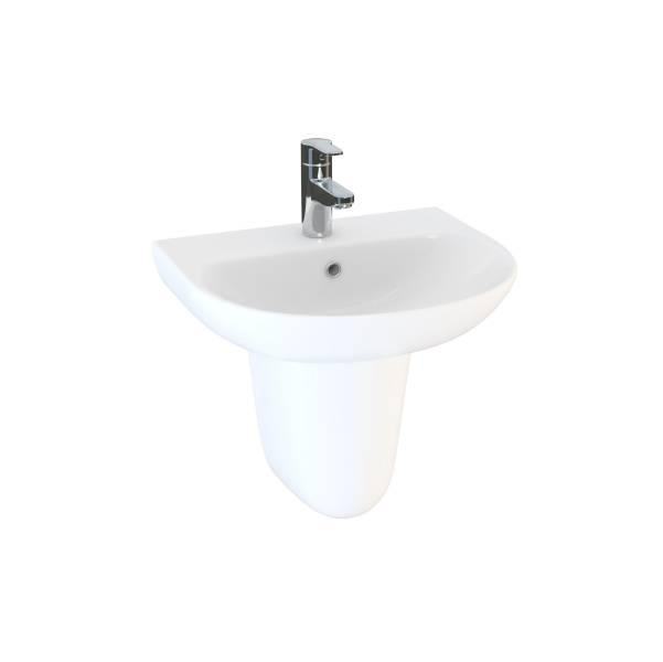 Designer Series 5 55 cm 1TH semi-recessed basin