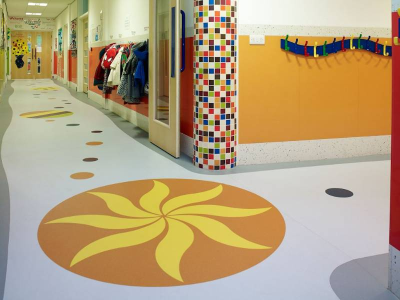Polyflor creates a bespoke Expona Flow design for Preston nursery