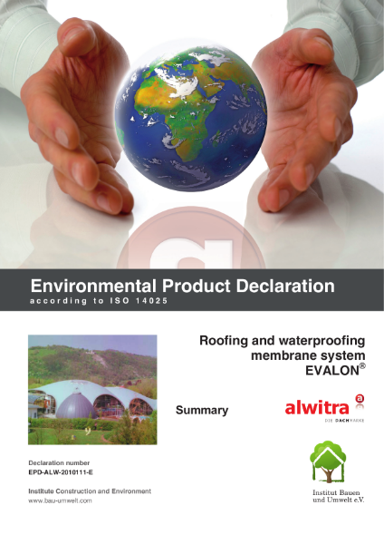 Evalon Environmental Product Declaration