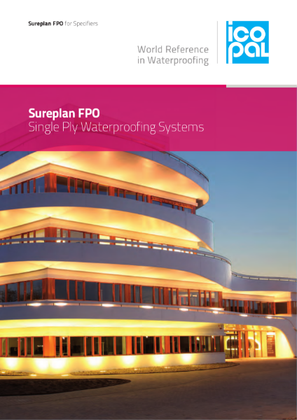 Icopal Sureplan FPO Single Ply Roof Waterproofing Systems for Specifiers