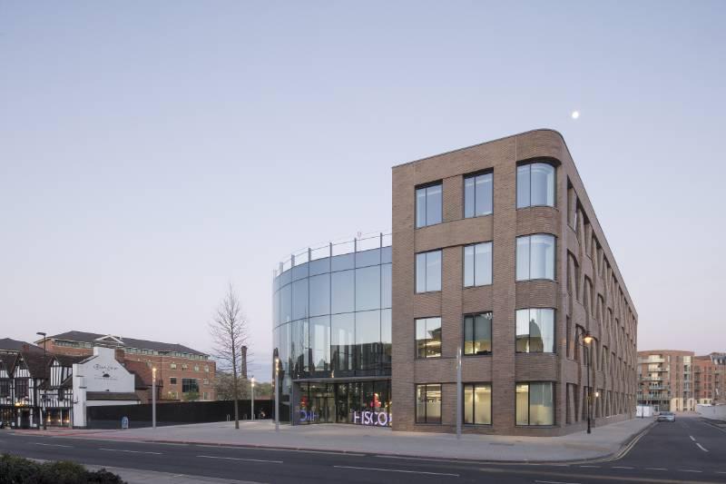 WICONA Windows frame historic skyline for York Insurance company