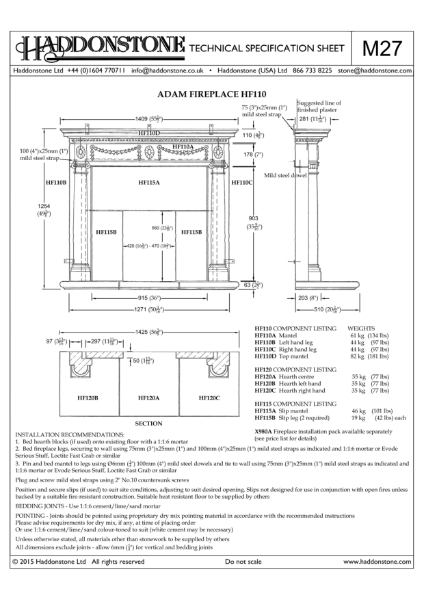 Fire Surrounds - Technical Details