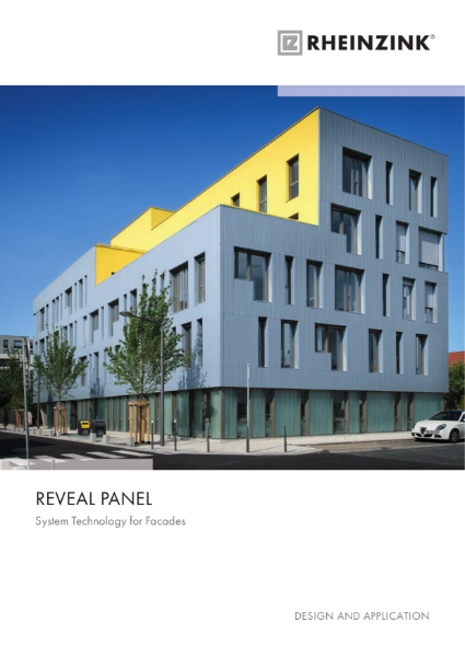 Rheinzink Reveal Panel - Zinc System technology for Facades