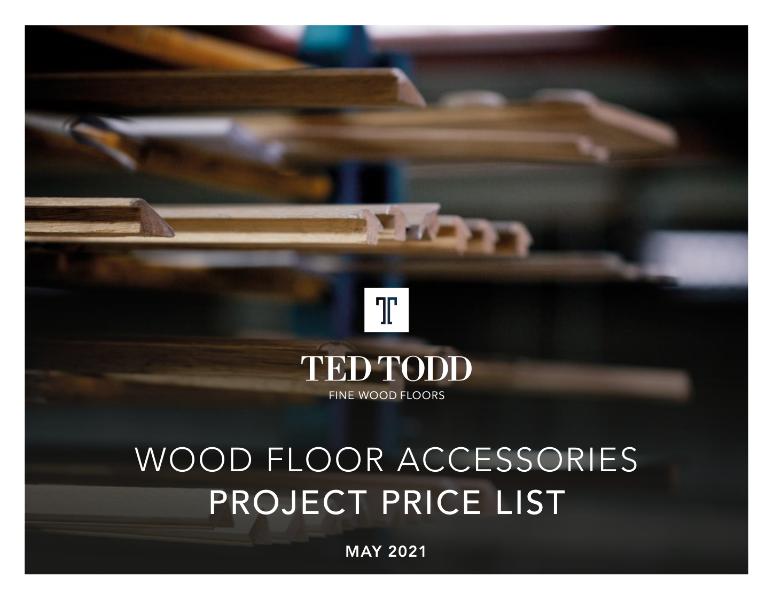 Wood Floor Accessories Project Price List