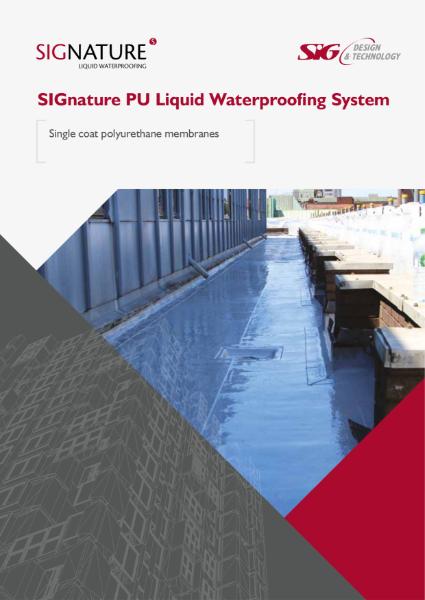 SIGnature PU Liquid Waterproofing Brochure