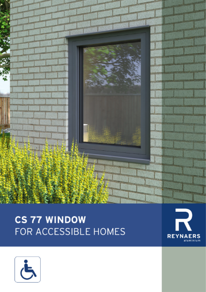 Aluminium window for life time homes - CS 77 life time homes window