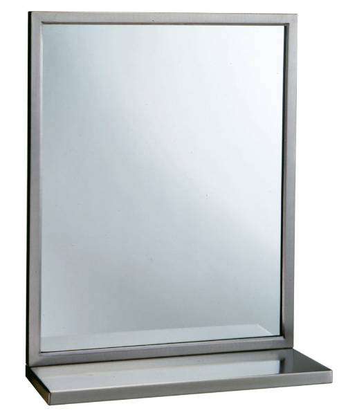 Welded-Frame Mirror/ Shelf Combination B-292 1836