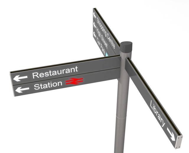 Coda Fingerpost Sign