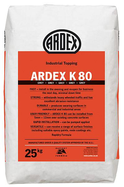 ARDEX K 80 Rapid Drying Industrial Topping/Wearing Surface