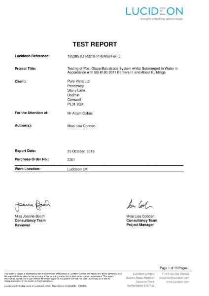 Balcony Seal Test Report