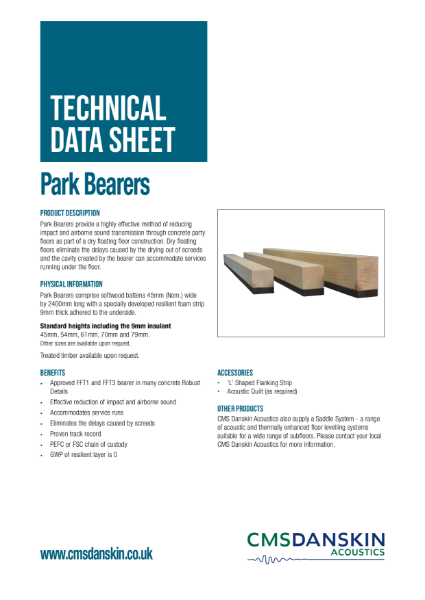CMS Danskin Acoustics Park Bearers TDS