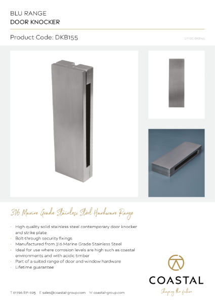 BLU™ - DKB155 Door Knocker Data Card