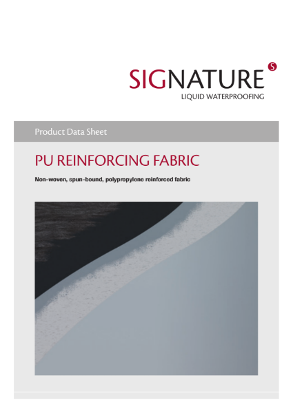 SIGnature PU Liquid Waterproofing Reinforcing Fabric Datasheet