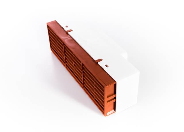 Rytons Multifix® Air Brick with Flat Channel Ducting Adaptor