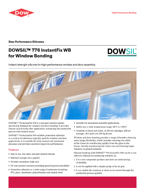DOWSIL 776 Instant Fix for Window Bonding