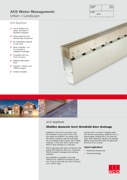 ACO StepDrain brochure