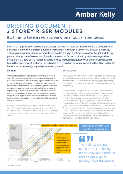 Technical briefing note - Prefabricated riser modules