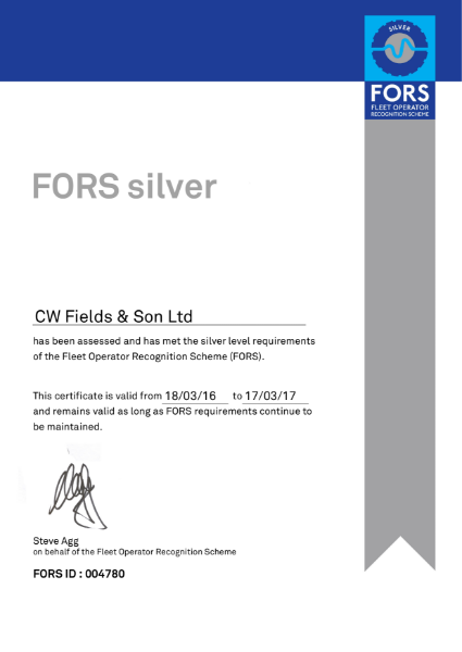 FORS silver Certificate