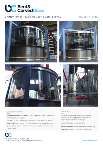 Project Profile - Chifley Tower Revolving Door & Cafe, Sydney