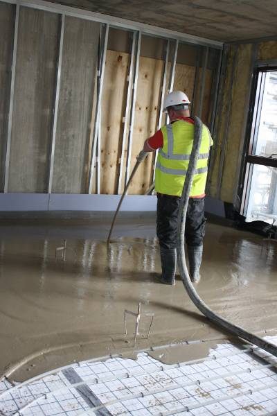 Isowarm Tackerboard System - Isocrete Alpha Screed (Upper Floor)