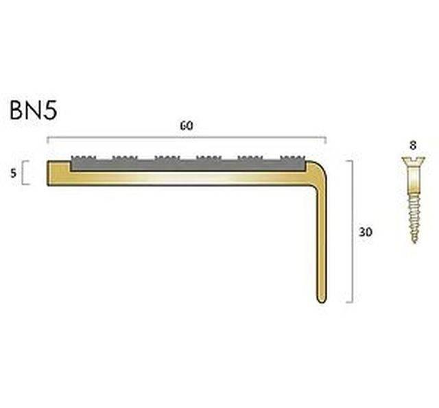 BN5 brass stair nosings