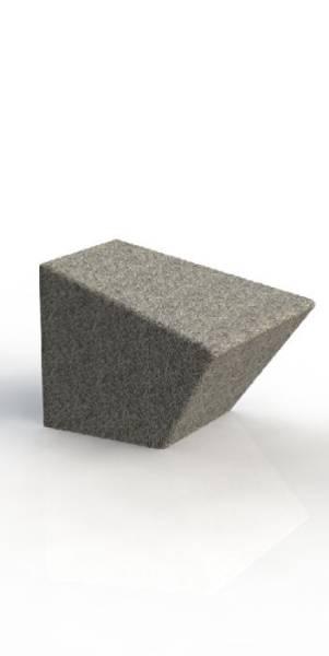 ASF Modernist 600 Granite Bollard Seat