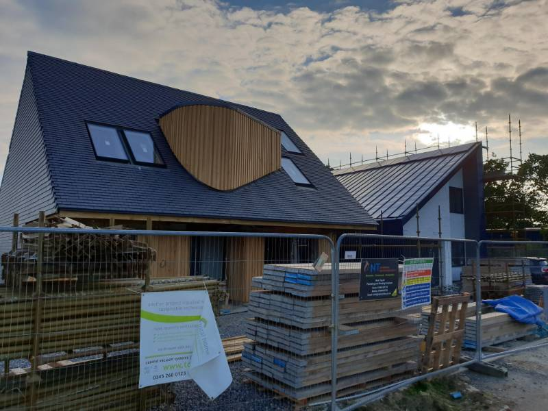 Graven Hill self-build ICF houses with concrete upper floors