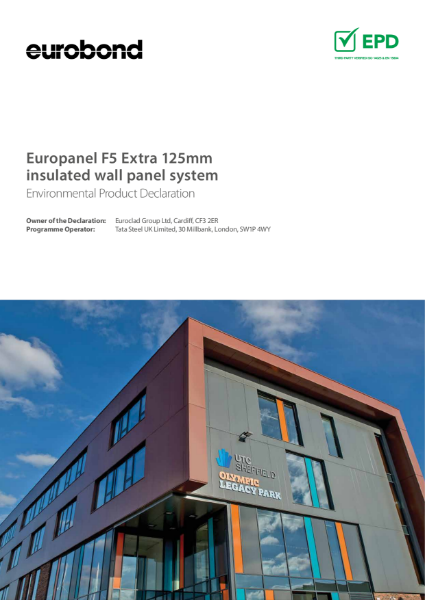EPD Euroclad Europanel F5 Extra 125mm insulated wall panel system