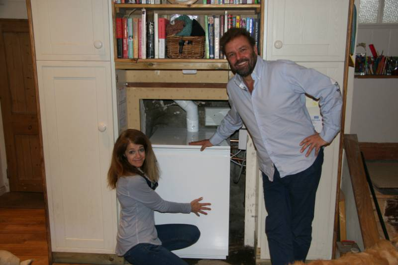 Martin Roberts warms up with a Grant VortexBlue blue flame oil boiler