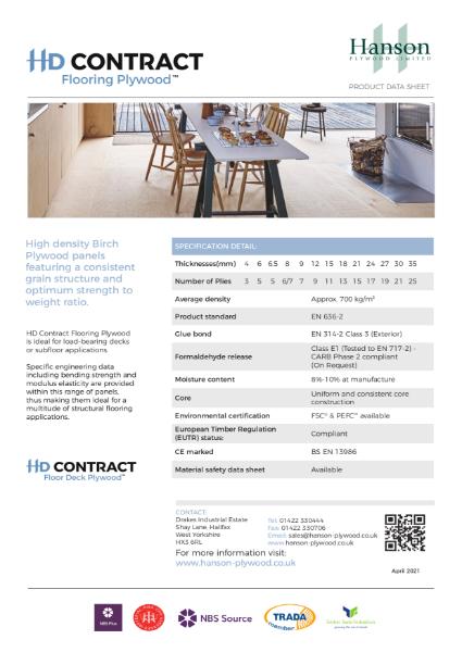 HD Contract Flooring/Floor Deck Plywood