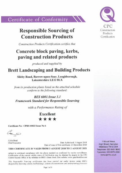 BES 6001:Issue 3.1 Framework Standard for Responsible Sourcing