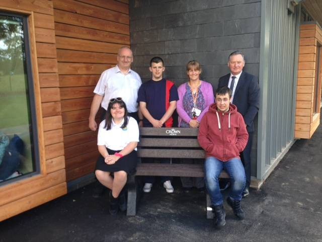 Specialist school receives bench from Crown Paints