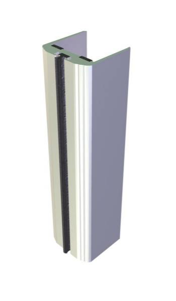 Aluminium Door Edge Guards Fire Rated – Rounded Profile Longer Leg
