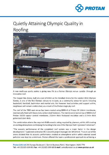 Olympic Handball Arena Protan Prefabricated System