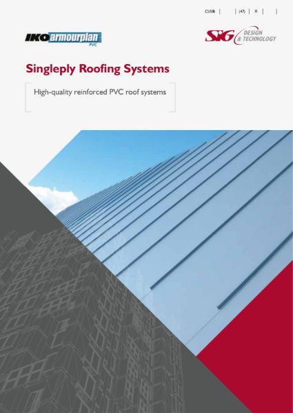 IKO Armourplan PVC single ply roofing membrane brochure