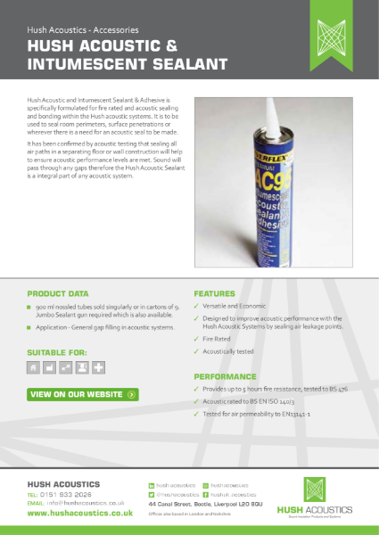 Hush Acoustic & Intumescent Sealant
